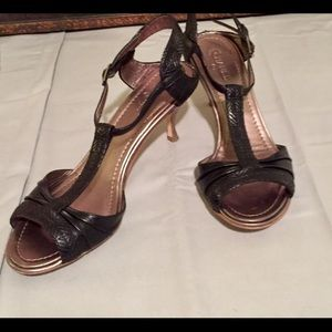 CHANEL black leather sandals - pregnant&need space